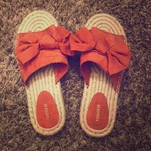Coral pink sandals
